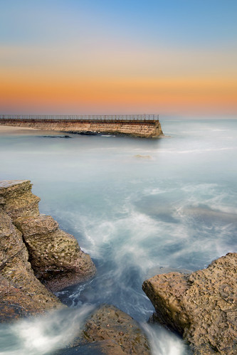lajolla childrenspool seascape ocean pacific sandiego california sea water rocks reef seawall marine sunrise