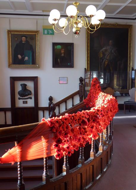 Poppy tribute .. Newbury Town hall
