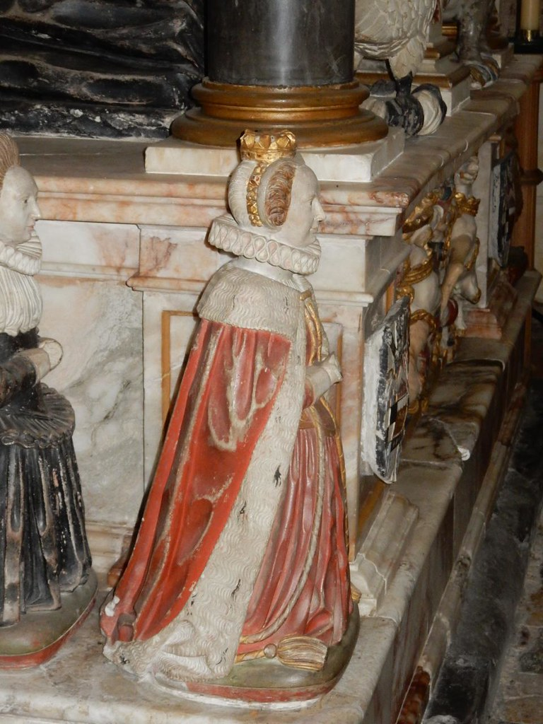 Lettice Knollys Knollys tomb, Rotherfield Greys church, Shiplake to Henley