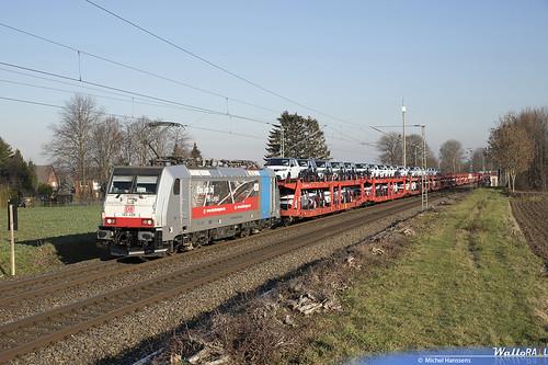 186 498 . DB Cargo . E 49568 . Würm (Geilenkirchen) . 20.01.19.