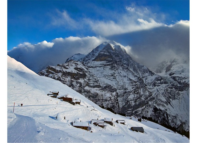 Schiltalp, Winter time in the Village of Schilt. (1,946m alt. ) Canton Of Bern, Switzerland. Izakigur30.12.08, 12:59:03 no. 195 200.