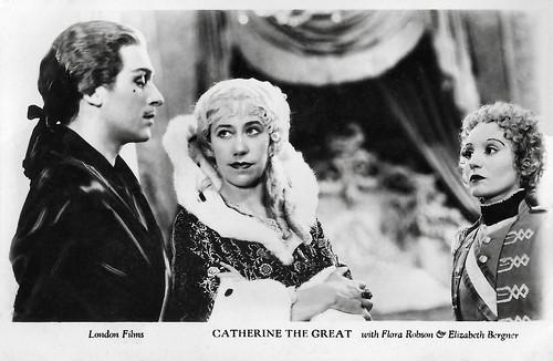 Douglas Fairbanks Jr., Flora Robson and Elisabeth Bergner in Catherine the Great (1934)