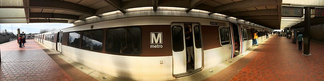 STEP BACK, DOORS OPENING - Not our train - East Falls Church Metro station WMATA