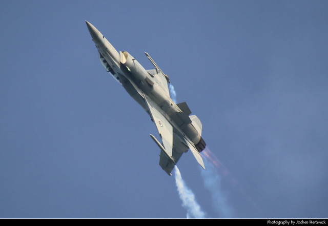UAEAF F-16 firing up its afterburner, UAE National Day Air Show, Abu Dhabi, UAE