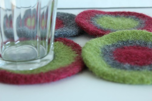 Felted Coasters - Melanie   by smithsoccasional
