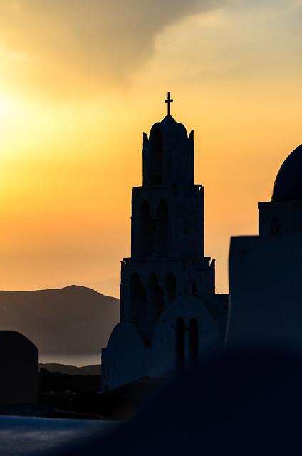 Santorini...sunset and silhouettes