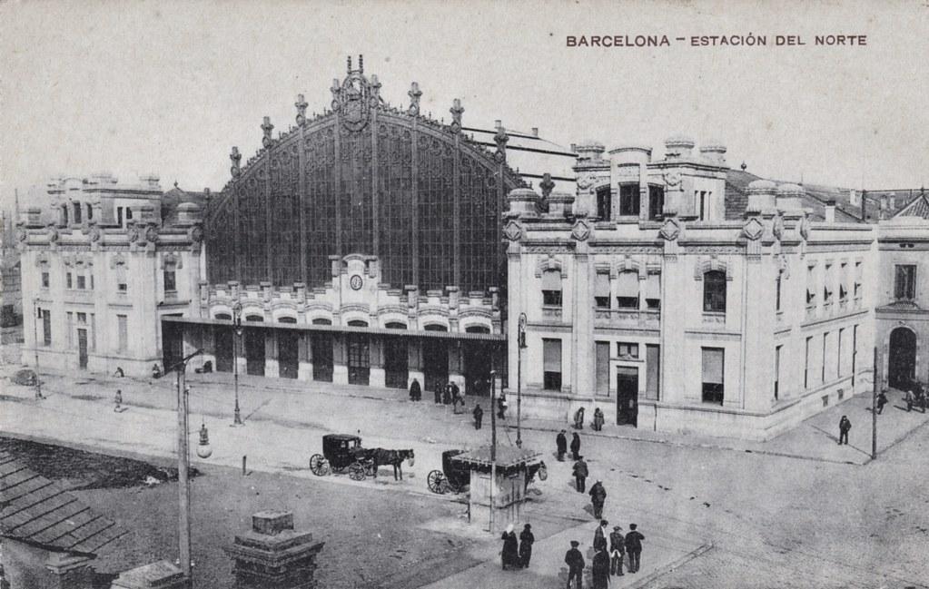 Barcelona Estacion De Francia C 1910 Old Postcard Flickr