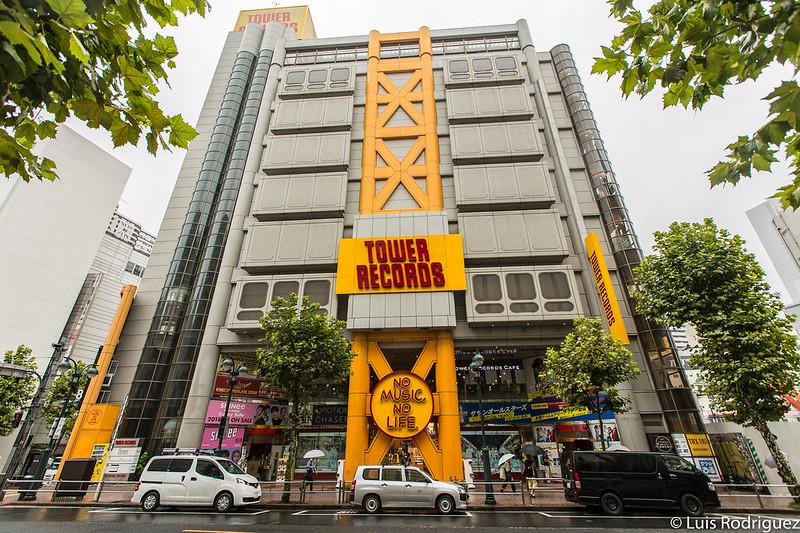 El edificio de Tower Records en Shibuya