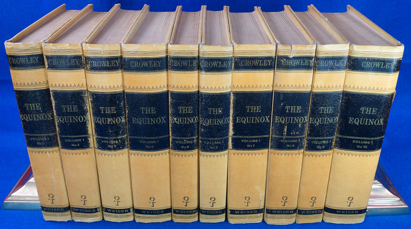 RD26573 The Equinox Review of Scientific Illuminism 1974 Vol. 1 Complete Set of 10 Books Aleister Crowley Occult Magic DSC08459