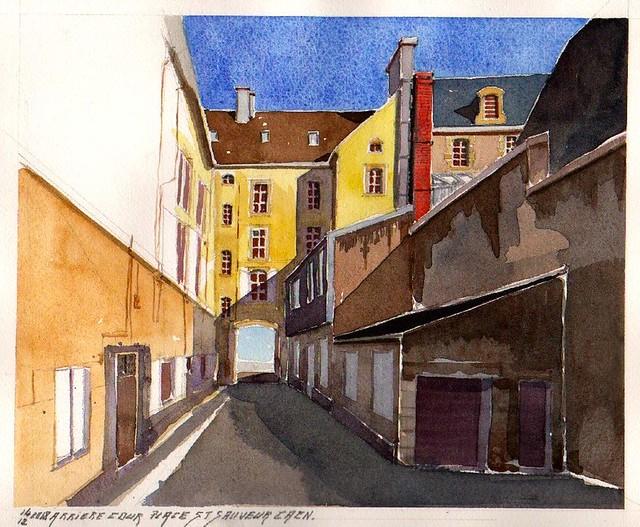 Arrière cour Place Saint Sauveur Caen