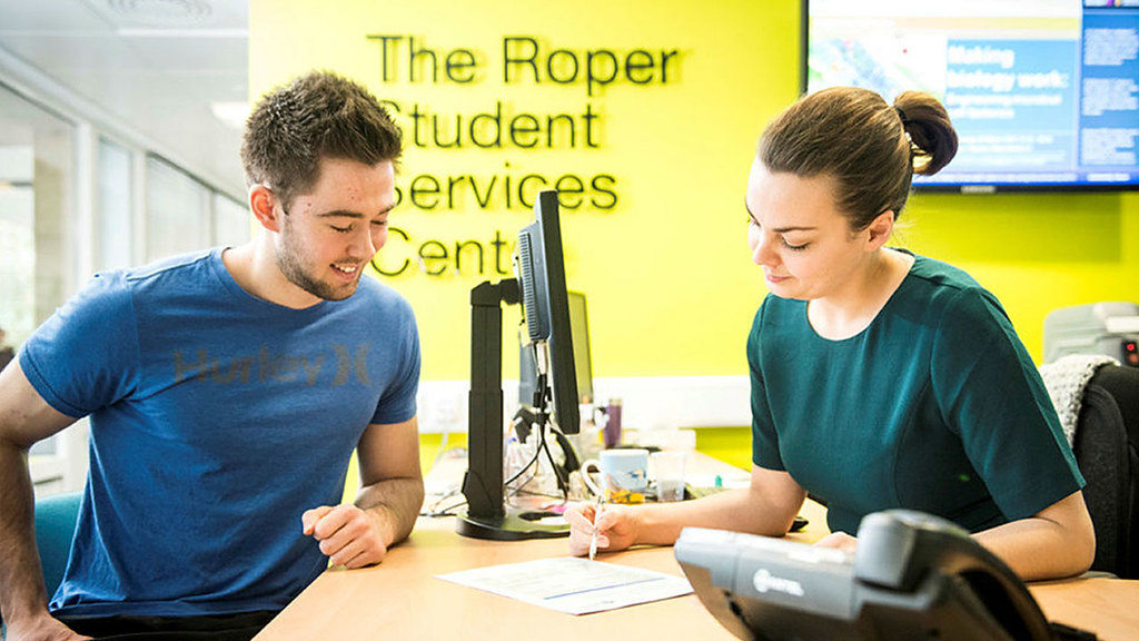 A student having an appointment with Student Services