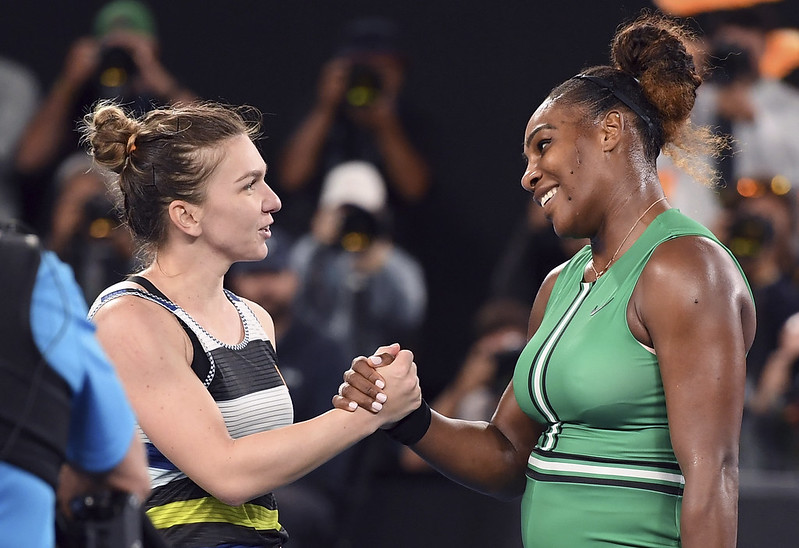Simona Halep(圖左)將與Serena Williams爭奪溫網女單冠軍。(達志影像資料照)