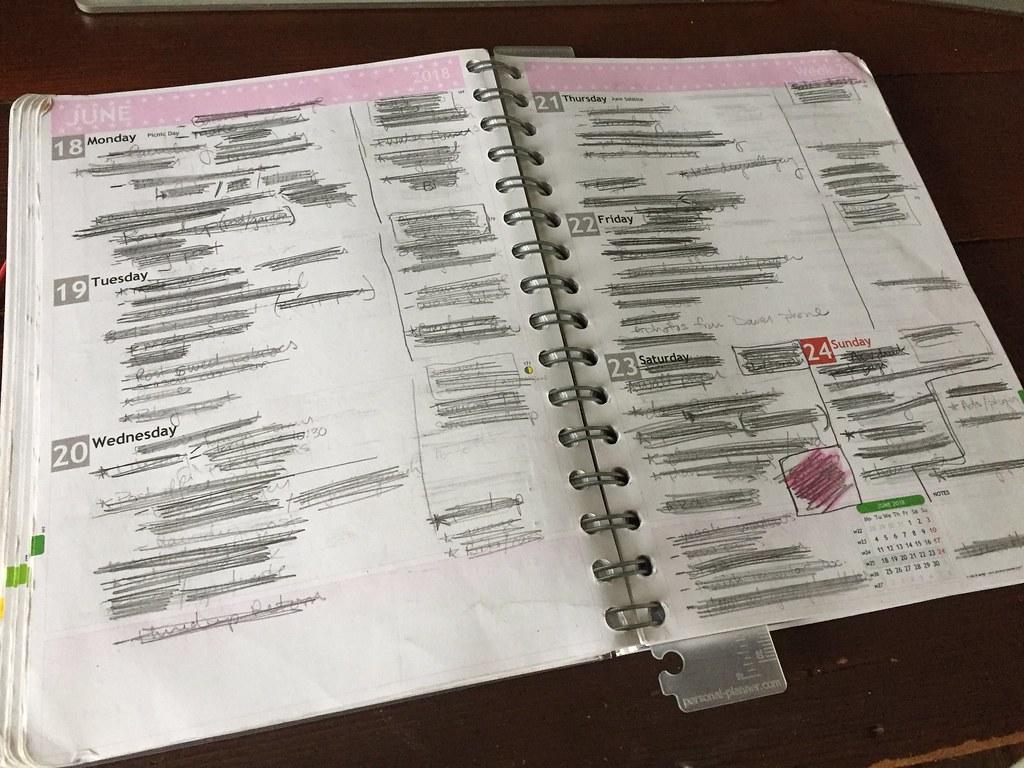 messy planner