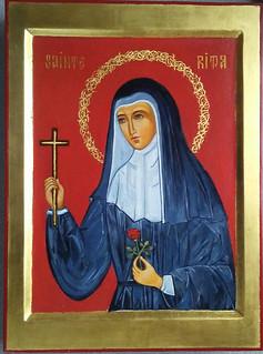 2019. Icône de Sainte Rita Icon.  Main de - Hand of Dina Phares | by Périchorèse-iconographie