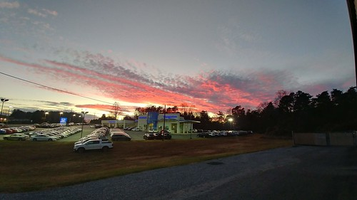 morganton honda sunset north carolina clouds