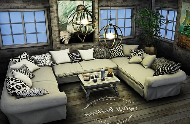 *From:KAZZA 3D KAZZA - Ibiza U-Couch - C