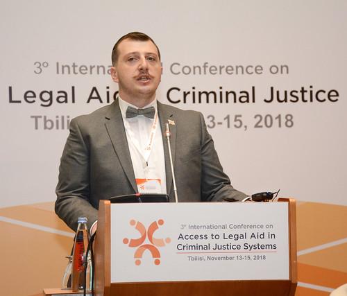 სახალხო დამცველის მოადგილემ იურიდიული დახმარების შესახებ საერთაშორისო კონფერენციაში მიიღო მონაწილეობა 14.11.18 Deputy Public Defender Takes Part in International Conference on Legal Aid