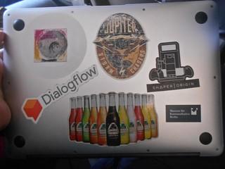 Bruce Sterling laptop