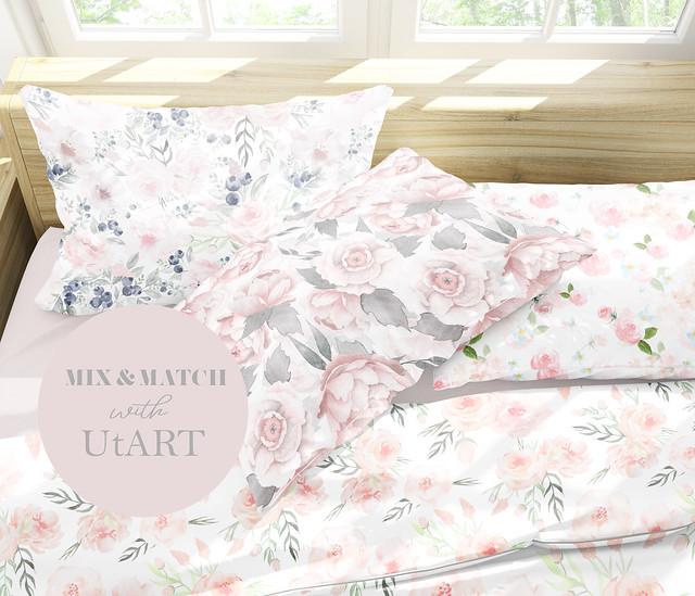 pink rose blush florals home decoration pattern