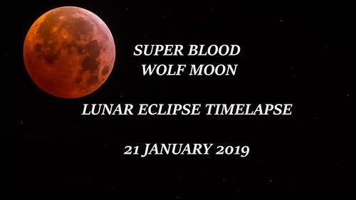 Super Blood Wolf Moon Lunar Eclipse Timelapse (44 secs)