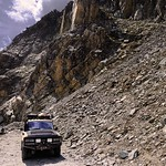 landcruiser with rock behind