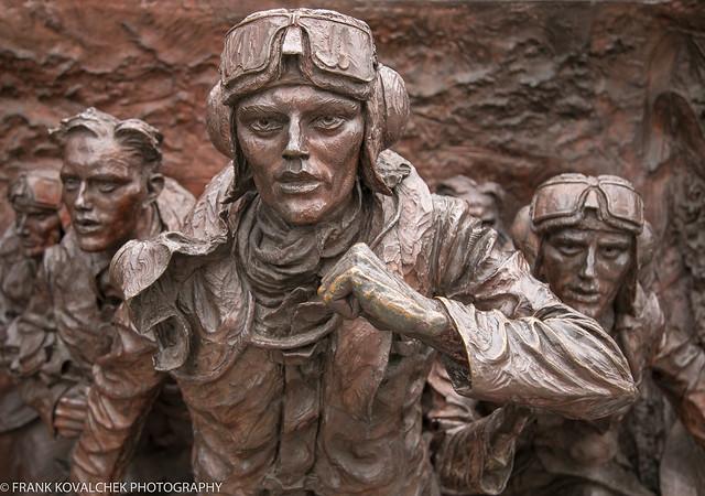Pilots scrambling, Battle of Britain Monument