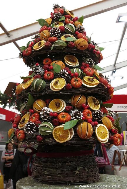 Decorative Christmas Tree - Ripley Castle Christmas Fair - Ripley Harrogate North Yorkshire England