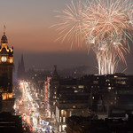 Fireworks display in Edinburgh