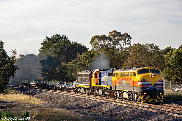 SSR rail wagon transfer at Woodend on 11/12/2018.