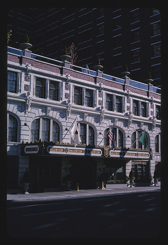 Davenport Hotel entrance, angle 2, 1st Avenue, Spokane, Washington (LOC)   by The Library of Congress