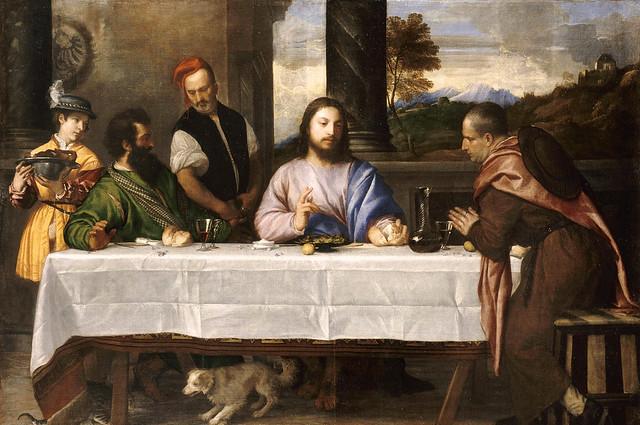 Tizian / Titian / Tiziano, Abendmahl in Emmaus - Supper at Emmaus - Cena in Emmaus