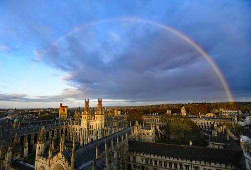 universitychurchofstmary oxford nikond850 afsnikkor1635mm14ged rainbow november allsoulscollege