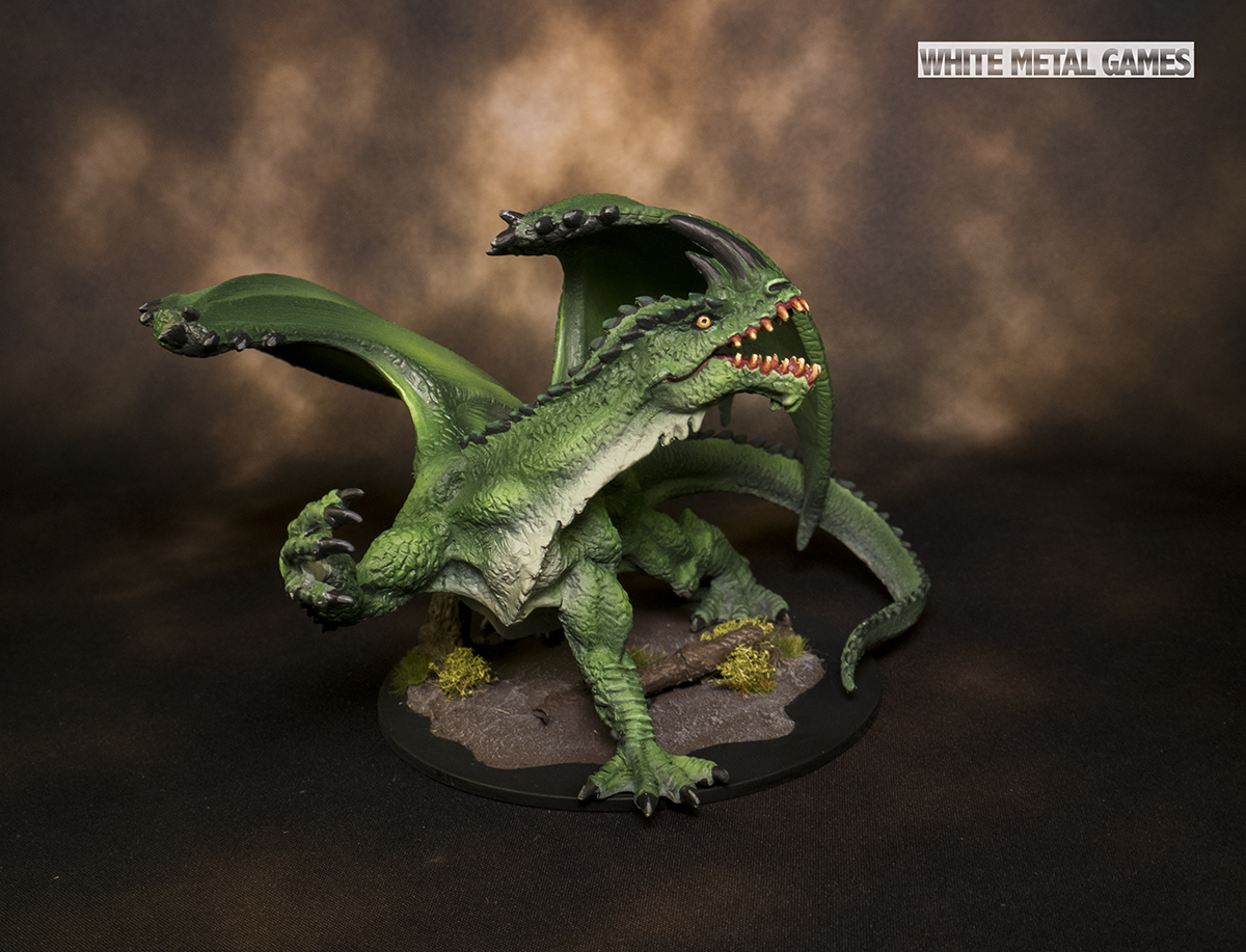 Pathfinder Gargantuan Green Dragon - Rental