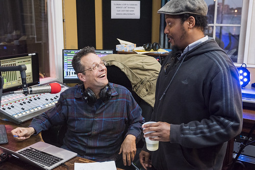 T.R. Johnson and Jesse McBride at WWOZ's 38th birthday - 12.4.18. Photo by Ryan Hodgson-Rigsbee rhrphoto.com.