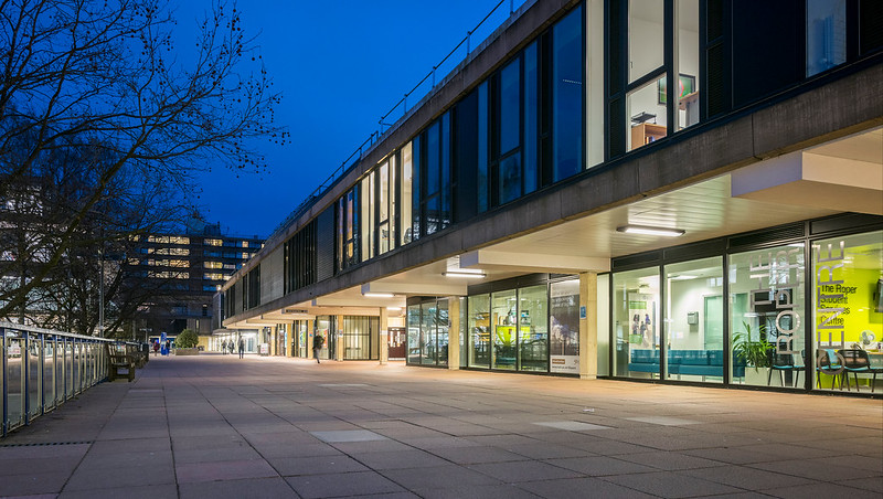 Photo of The Roper Centre at dusk