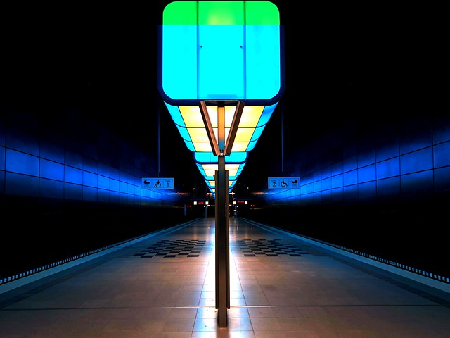 The Subway station HafenCity Universität
