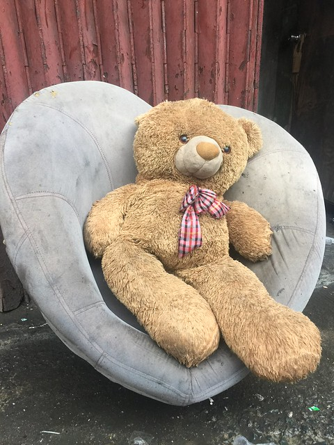 teddy bear in a chair