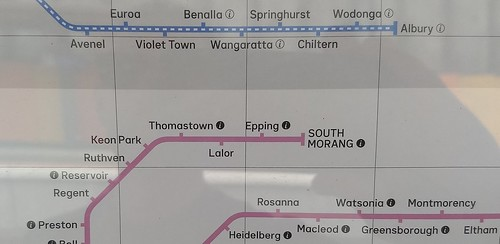 Rail map on display in November 2018 - missing Mernda revision from August 2018 | by Daniel Bowen