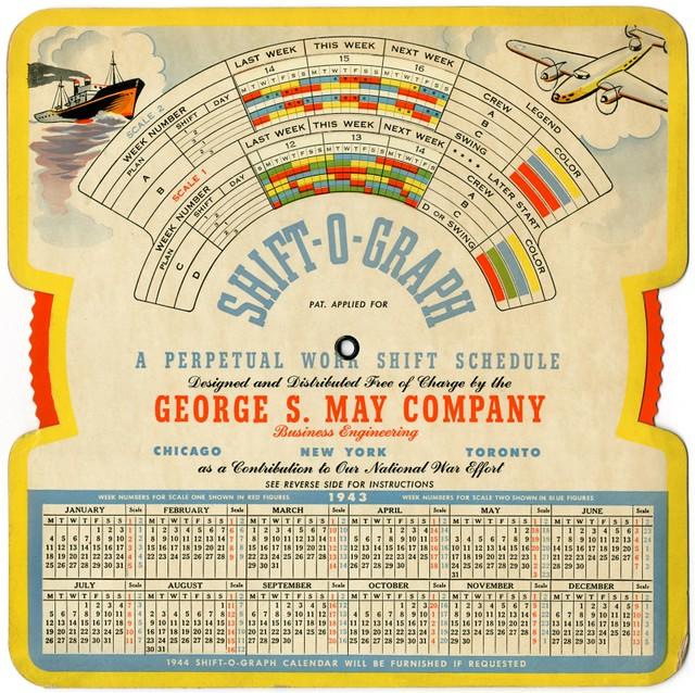 Shift-o-Graph—A Perpetual Work Shift Schedule, 1943