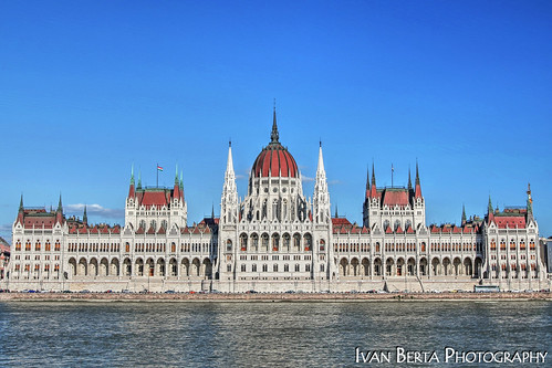 europe hungary hungaria budapest parliament donau danube blue view town old roof white reflection summer holiday