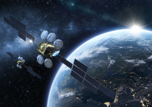 Artist view of the next generation of HOTBIRD satellites | by Eutelsat_SA