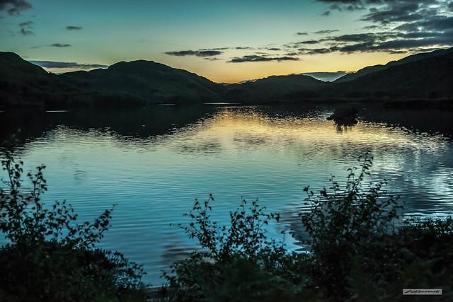 Sunset at Loch Eilt.