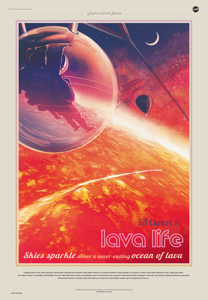 NASA Poster Illustration of Exoplanet 55 Cancri e