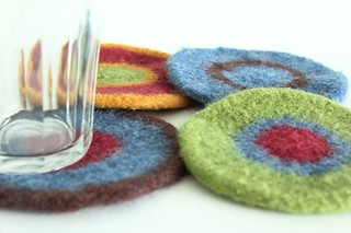 Felted Coasters - Amy One | by smithsoccasional