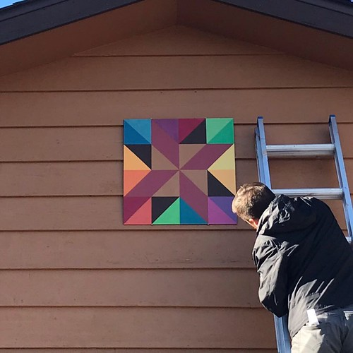 barn quilt and house update   by robayre