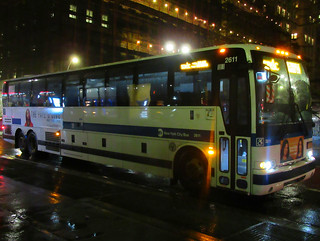 2015 Prevost X3-45 Commuter Coach 2611 on the SIM1C at Broadway & Chambers Street | by BM5 via Woodhaven (Main)