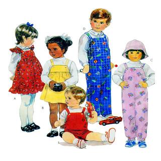McCalls 3258 Child Overall Pattern