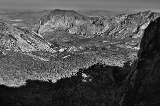 Shadows and Sunlight (Black & White, Big Bend National Park) | by thor_mark 