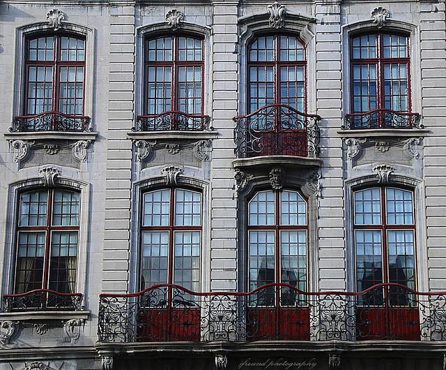 Facades in Mechelen, Belgium