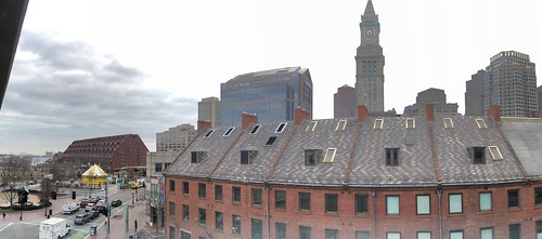 View of Boston from Dock Square parking garage | by brownpau